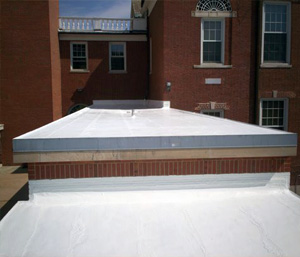 Photo of a roof restoration performed by Allied Commerical Roofing Services.